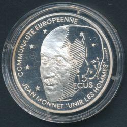 100 Francs - 15 Écus Jean Monnet 1992