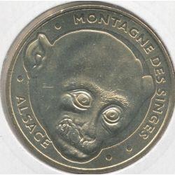 Dept67 - la montagne des singes N°8 - 2012 - tête de macaque - Kintzheim