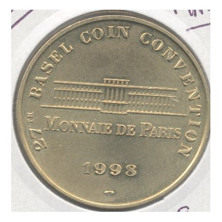 Suisse - Basel coin convention N°1 - uniface - 1998 - Bale