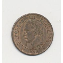 2 centimes Napoléon III - 1861 A Paris - Tête laurée