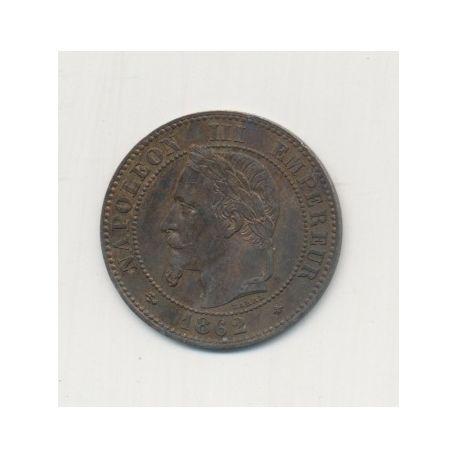 2 centimes Napoléon III - 1862 A Paris - Tête laurée