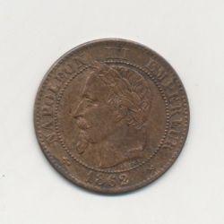 2 centimes Napoléon III - 1862 K Bordeaux - Tête laurée