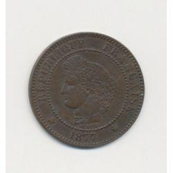 2 centimes Cérès - 1877 A Paris