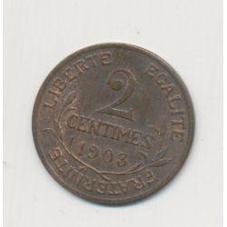 2 centimes Dupuis - 1903