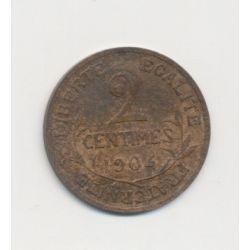2 centimes Dupuis - 1904