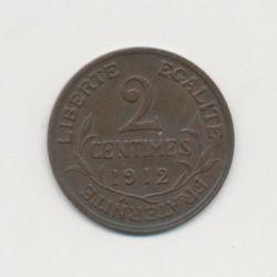 2 centimes Dupuis - 1912