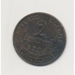 2 centimes Dupuis - 1920