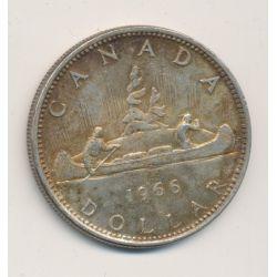 Dollar 1966 - Elisabeth II - canoe