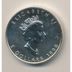 5 Dollars 1990 - maple leaf