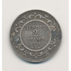 Tunisie - 2 Francs - 1891 A