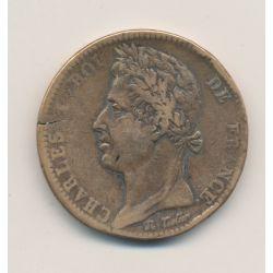 Colonies générales - 10 centimes 1827 H La rochelle - Charles X