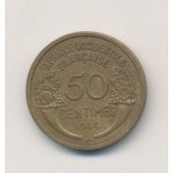 Afrique occidentale Française - 50 centimes 1944