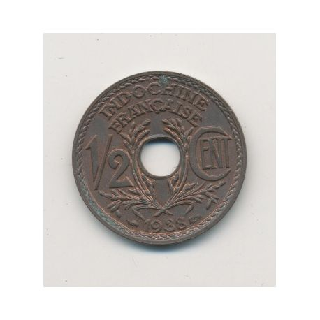 Indochine - 1/2 centime - 1938