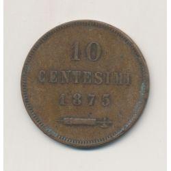 Saint-Marin - 10 centesimi - 1875