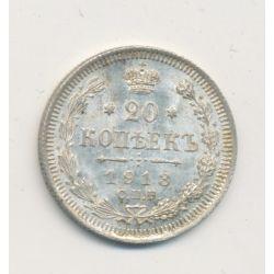 Russie - 20 Kopecks - 1913 - Nicolas II