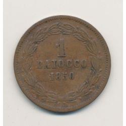 Vatican - 1 Baiocco - 1850