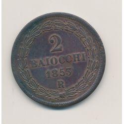 Vatican - 2 Baiocchi - 1853 VIIR - Pius IX
