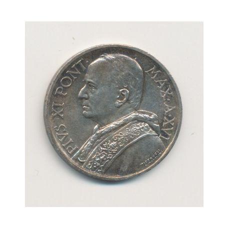 Vatican - 5 Lire - 1937 XVI - Pius XI