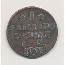 Danemark - Skilling - 1771 KM - Christian VII