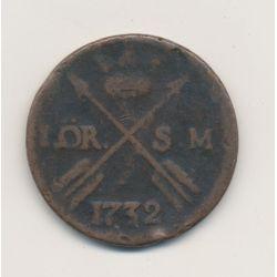 Suède - 1 Ore - 1732
