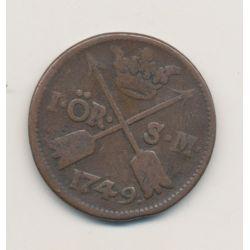 Suède - 1 Ore - 1749