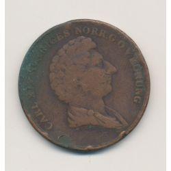 Suède - 2 Skilling - 1837