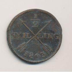 Suède - 1/2 Skilling - 1803