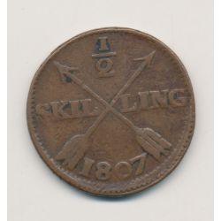 Suède - 1/2 Skilling - 1807