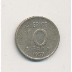 Suède - 10 Ore - 1957