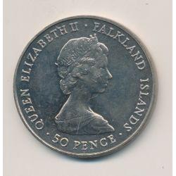 Iles Falklands - 50 Pence - 1982