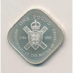 Jersey - 1 Pound - 1981 - Bicentenaire bataille de Jersey 1781-1981