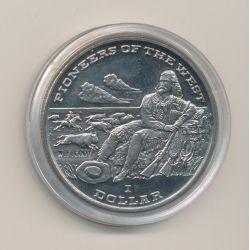 Libéria - 1 Dollar - 1996 - pionnier de l'ouest