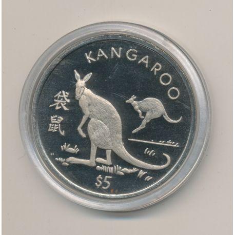 Libéria - 5 Dollars - 1997 - kangourou