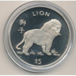 Libéria - 5 Dollars - 1997 - lion