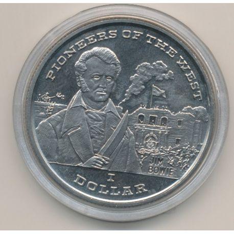 Libéria - 1 Dollar - 1996 - pionnier de l'ouest - Jim Bowie
