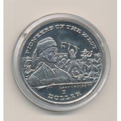 Libéria - 1 Dollar - 1996 - pionnier de l'ouest - Davy Crockett