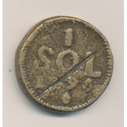 Luxembourg - 1 Sol - 1796 - Siège du Luxembourg