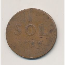 Luxembourg - 1 Sol - 1786