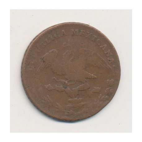 Mexique - 1/4 Real - 1829 - Mexico City