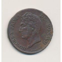 Monaco - 5 centimes - 1837 MC - Honoré V