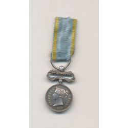 Angleterre - Médaille de Crimée 1854 + Sébastopol - réduction