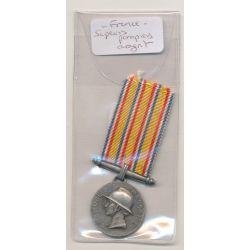 Médaille - Sapeurs pompiers - argent