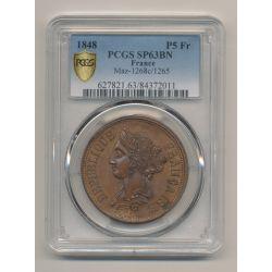 Essai - 5 Francs 1848 - Boivin - PCGS SP63BN