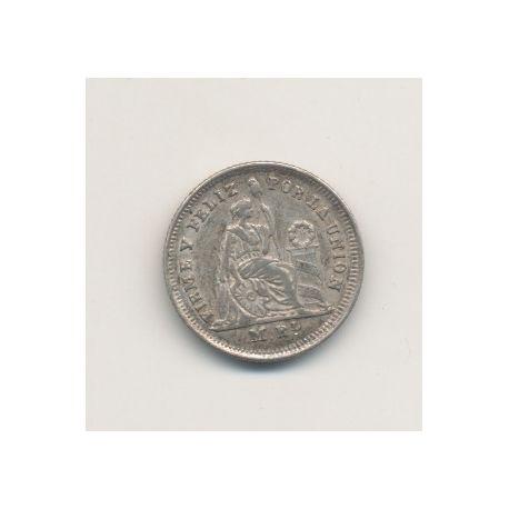 Pérou - 1/2 Real - 1861 YB
