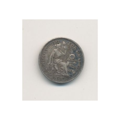 Pérou - 1/2 Dinero - 1913 FG - argent