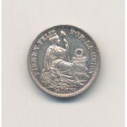 Pérou - 1/2 Dinero - 1914 FG - argent