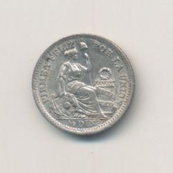 Pérou - 1/2 Dinero - 1916 FG - argent