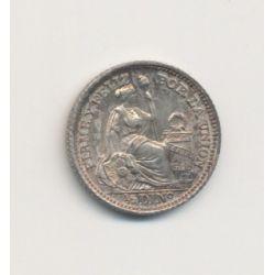 Pérou - 1/2 Dinero - 1917 FG - argent