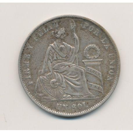 Pérou - Sol - 1869 YB - argent