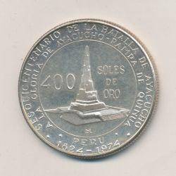 Pérou - 400 Soles - 1976 Lima - argent